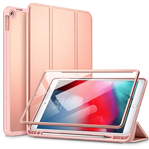 SURITCH Case for iPad Air 3 2019/iPad Pro 2017, [Built in Screen Protector] [Auto Sleep/Wake] [Pencil Holder] Lightweight Leather Case Flip Cover with Stand for iPad Air 3/iPad Pro 10.5'(Rose Gold)