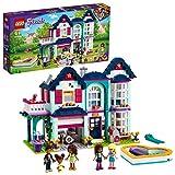 LEGO 41449 Friends Casa Familiar de Andrea Casa de Muñecas con Piscina y Estudio de Música, Set de Construcción
