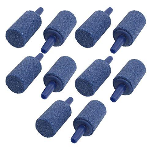 Sonline 10 Stueck 14.5mm x 25mm Mineral Blase Mitteilung Aquarium Ausstroemerstein Blau