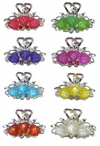 Set von 9Mini Jaw Clips in Perlen und glitzernde Steine u864175–0031–9