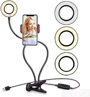 Anel de Luz Articulado com Suporte para Celular, com Controle Controle