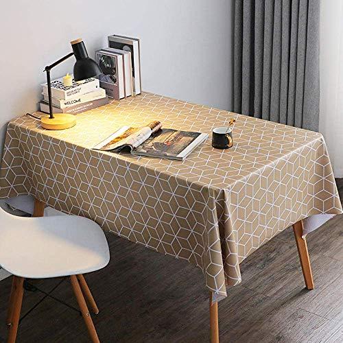 SBDLXY Color Impresionante Toallita Limpiar Manteles de Hule PVC Mantel Grueso y Suave para cumpleaños Ducha Nupcial Bebé Marrón 110x160cm