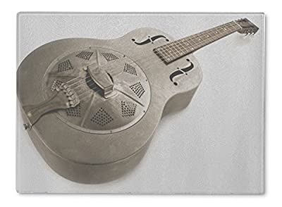 Gear New Glass Cutting Board and Serving Dish, Dobro Guitar Isolated, 5657209GN