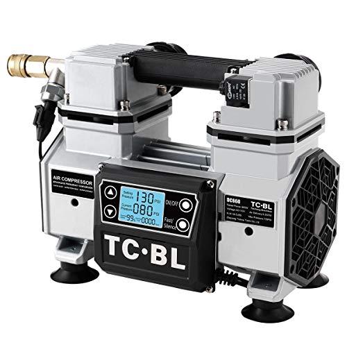 TC·BL Portable Air Compressor 110V,Ultra Quiet Air Compressor Oil Free and Lightweight Small Air Pump