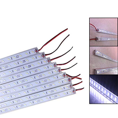 LED-Streifen-Lichter Weiß Pool steifes Streifen IP68 9W SMD 7020 36LED 12V LED 50cm
