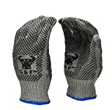 G & F Products 14431M-DZ Natural Cotton Work Gloves with Double-Side PVC Dots Grey Gloves , Knit Work Gloves,Assorted ring colors, Medium, 12 Pairs