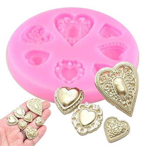 TAOYUE Love Gem Diamonds Chocolate Wedding Cake Decorating Tools DIY Heart Shape Baking Candy Clay Fondant Silicone Molds