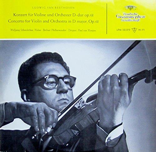 Beethoven Konzert für Violine und Orchester D-dur. Schneiderhan. Berliner Philharmoniker. Paul van Kempen. LPM 18099 , Printed 11/56