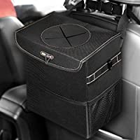 Boltlink Car Trash Can with Lid and 3 Storage Pockets