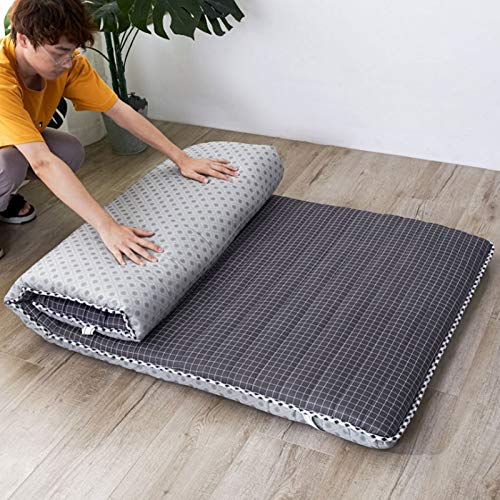 CAICAIL Traditional Japanese Futon Mattress,Breathable Tatami Double Quilting Folding Floor Sleeping Mat Four Seasons Available Mattress,5,90x190CM(35x75inch)