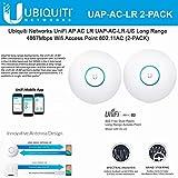 Ubiquiti UniFi AP AC LR UAP-AC-LR 2 Units Long Range 802.11ac Dual-Band Wireless Access Point Gigabit PoE Speeds 867 Mbps