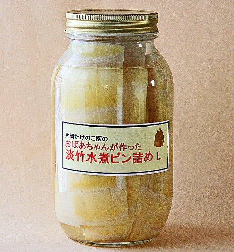 美味しい岡山県真備町 淡竹たけのこ水煮ビン詰め L(900cc)