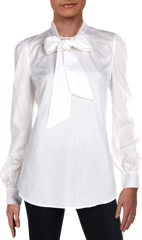 Lauren Ralph Lauren Womens Piedad Tie Front Day to Night Blouse