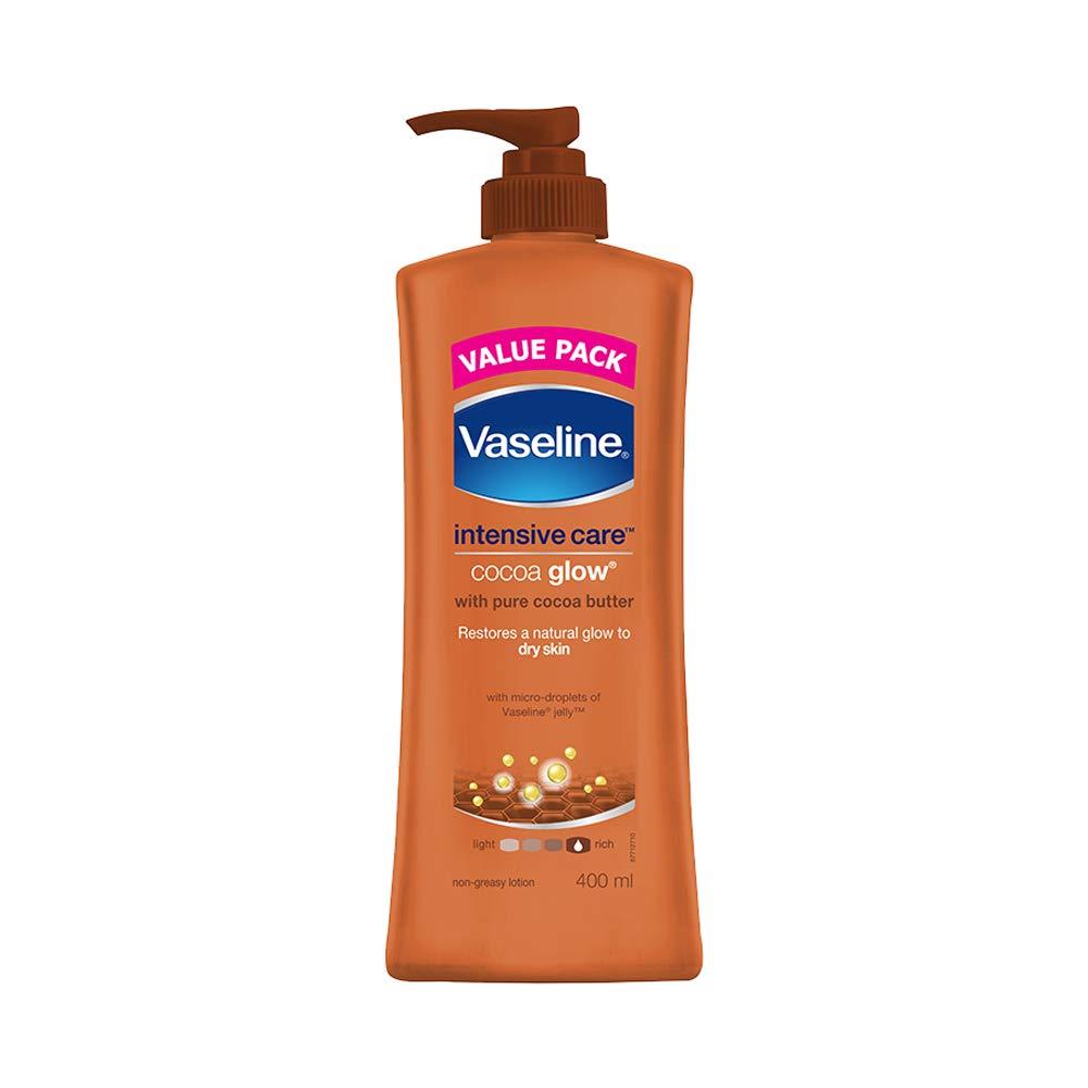 第二に引き金出しますVaseline Intensive Care Cocoa Glow Body Lotion, 400 ml