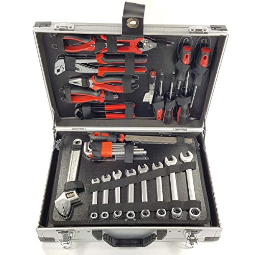 Maletín de herramientas 139 piezas en cromo-vanadio de alta calidad. Maleta de...