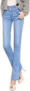 Women Fashion High Waisted Jeans Bell Bottom Stretchy Skinny Jeans