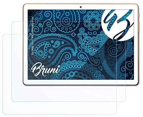 Bruni Schutzfolie kompatibel mit XIDO X111 IPS 1280x800 Pixel Folie, glasklare Bildschirmschutzfolie (2X)