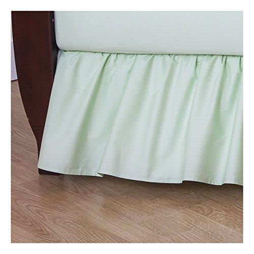 Saia para cama de berço TL Care 100% algodão Percale, Celery
