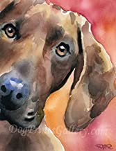 Redbone Coonhound Dog Art Print by Artist DJ Rogers