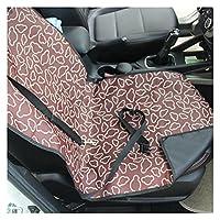 犬のカーシートカバー 2021新しいペットキャリア犬の車の座席カバー犬の猫の毛布の後ろ後のハンモックプロテクターの輸送の防水防水 (Color : A-Coffee cloud)