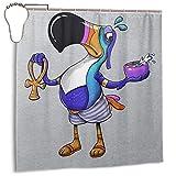 GSEGSEG Wasserdichter Polyester-Duschvorhang Tucan Sam Ra Fruit Loops Print Dekorativer Badezimmer-Vorhang mit Haken, 182,9 cm x 182,9 cm