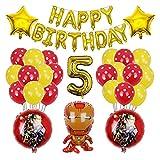 QIANGQSM 1set Hero Hulk Globos Globos Feliz Cumpleaños Inflaje Bola de Aluminio Cumpleaños Bebé Bebé Suministros Globo (Color : 5)
