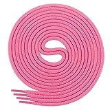 Di Ficchiano Schnürsenkel, Rundsenkel für Business- und Lederschuhe, reißfester Allroundsenkel, ø 3mm Farbe pink Länge 120cm