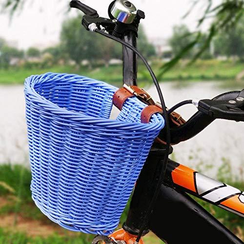 Rvest Cestino Bicicletta,Cestino Bicicletta Anteriore,Cestino Bici per Bambini con Manubrio Anteriore Cestino Bici per Bambini - Biciclette per Ragazzi E Ragazze