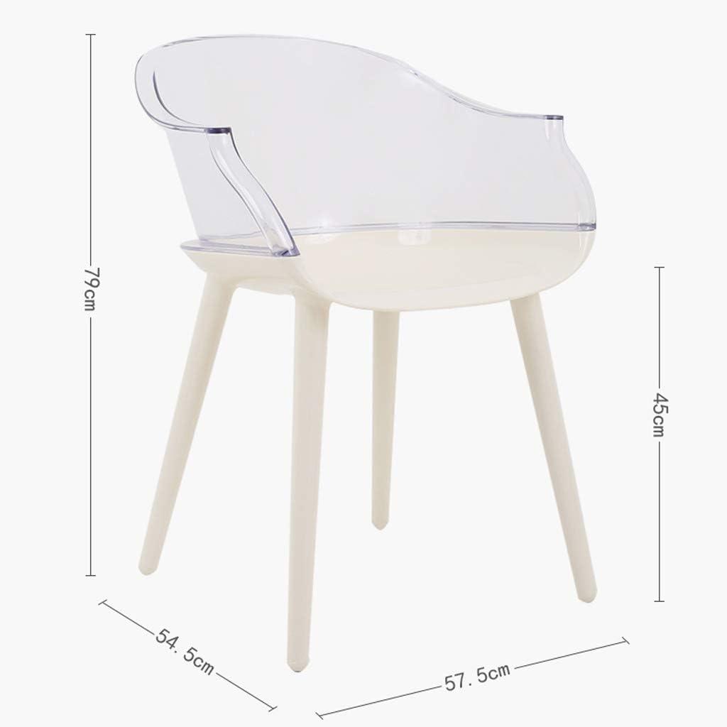 HXF- Chaise de salle à manger, chaise de bureau simple, dossier créatif, chaise de loisirs, chaise de salle à manger pour adulte durable (couleur : rouge-B) Rouge-a