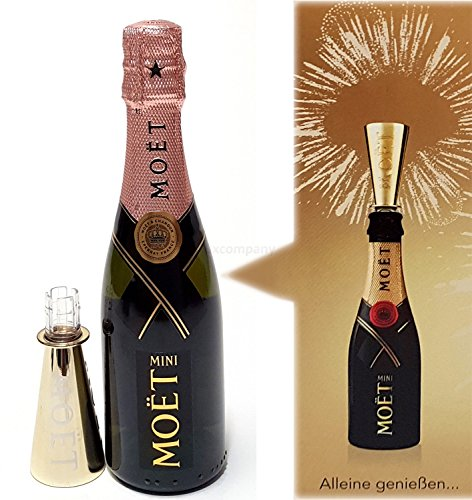 Moet & Chandon Rose Mini Imperial Champagner 20cl (12{e3acb409cd3ae30c8350b8db88d420d864b67856941c179c005f8aa6b2929d7f} Vol) + Ausgiesser