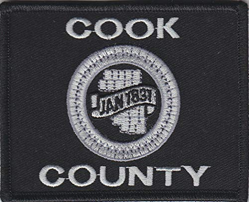 Embroidered Patch Cook County Flag Patch Subdued/SWAT Sheriff Police IL Illinois Made in The USA