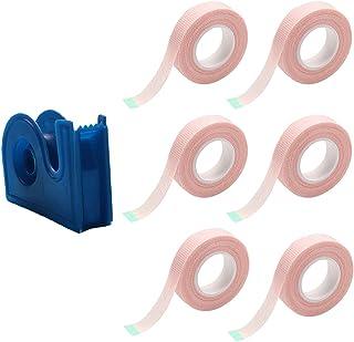 Beaupretty 1 Set/ 7Pcs Lash Tape En Cutter Wimper Extension Supplies Lash Pads Under Eye Patches Farbic Tape (Roze)