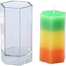 Tvvudwxx Hexagonal Column Handmade Candle Mould Soap Mold for DIY Party Decor Candle Making Supplies