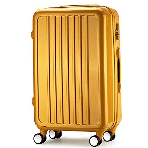 Maleta 4 ruedas ABS 68x40x26 cm diamante maleta viaje Dorado