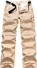 Women's Outdoor Anytime Quick Dry Convertible Lightweight Hiking Fishing Zip Off Cargo Work Pant 2042