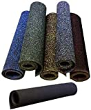 American Floor Mats 1/2in (12mm) Thick Solid Black 4' x 8' Heavy Duty Rubber Rolls, Protective...