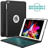 iPad Mini 5 / Mini 4 Keyboard - 135 Degree Flip 7 Color Backlit...