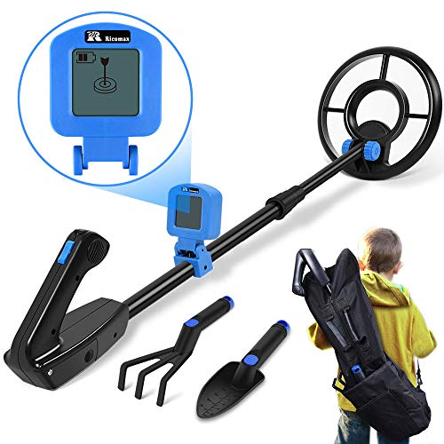 Save %40 Now! Metal Detector for Kids - Kid Metal Detector Junior 7.4 Inch Waterproof Search Coil Ju...