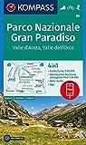KOMPASS Wanderkarte Parco Nazionale Gran Paradiso, Valle d'Aosta, Valle dell'Orco: 4in1 Wanderkarte 1:50000 mit Aktiv Guide und Detailkarten inklusive ... Skitouren. (KOMPASS-Wanderkarten, Band 86) - KOMPASS-Karten GmbH