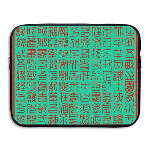 Computer Bag Laptop Case Sleeve Chinese Woorden Stempel Waterdicht 13-15in IPad MacBook Surfacebook