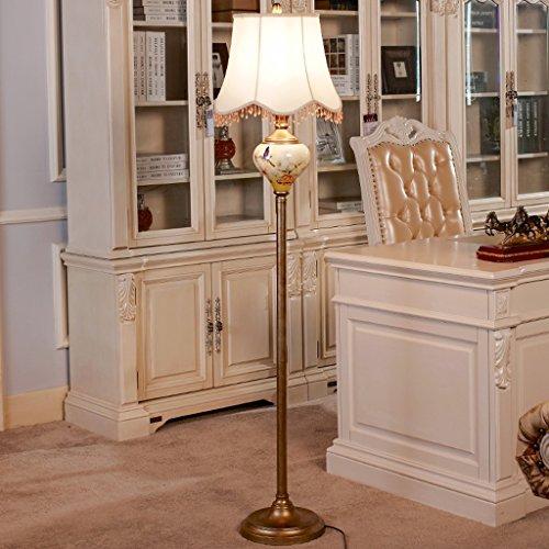 ZIXUANJIAXL Stehende Stehlampen Europäische Stehlampe Wohnzimmer Stehlampe Schlafzimmer Stehlampe kreative Stehleuchte amerikanische Nachtstehlampe