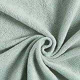 Fabulous Fabrics Fleece pastellgrün, Uni, 150cm breit