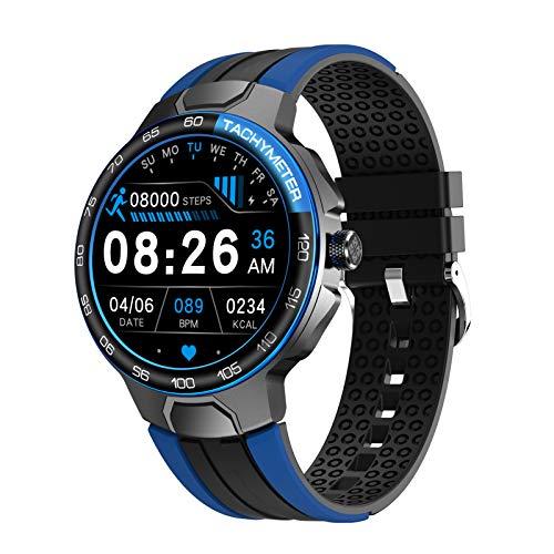 FMSBSC Smartwatch Reloj Inteligente para Hombres Mujeres, 24 Modos De Ejercicio Monitor De Sueño De Frecuencia Cardíaca, 5ATM A Prueba De Agua, Reloj Inteligente para Teléfonos Android iOS,Azul