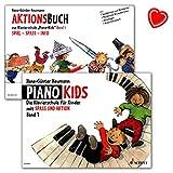 Piano Kids – Escuela de Piano para niños – Oferta completa 1 + Libro de acción 1 con colorido clip de partitura/chott Music ED8301-02 9783795752576