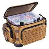 Plano Guide Series Tackle Bag   Premium Tackle Storage with No Slip Base and Included stows, Khaki with Brown and Black Trim, 3600 (PLABG360)