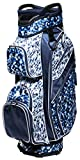Glove It Women's Golf Bag, Lightweight Golf Cart Bag for Ladies with 14 Golf Club Holders, Putter Well & 9 Easy-Access Pockets, Blue Leopard, One Size