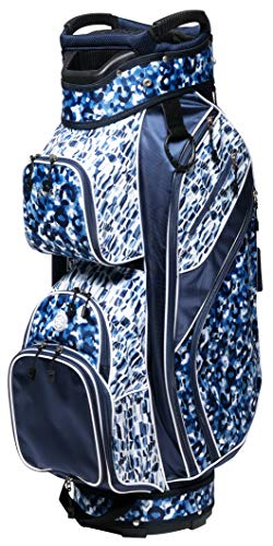 Glove It Women's Golf Bag, Lightweight Golf Cart Bag for Ladies with 14 Golf Club Holders, Putter Well & 9 Easy-Access Pockets, Blue Leopard