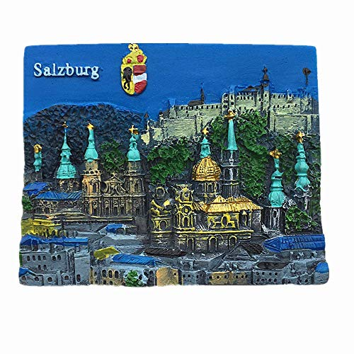 Salzburg Österreich Kühlschrankmagnet Reise-Souvenir Geschenk Home Küche Dekoration Magnetaufkleber Salzburg Österreich Kühlschrankmagnet Kollektion