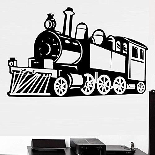 Tianpengyuanshuai Kras Dampfzug Wandaufkleber abnehmbare Wandtattoo Wandaufkleber Dekoration 85X55cm