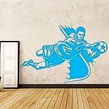 xingbuxin Muyuchunhua Voleibol Atleta Decoración de Pared para la habitación del bebé Tiendas Deportivas Estadio de Voleibol Vinilos Decorativos para Paredes 3 XL 58cm X 87cm